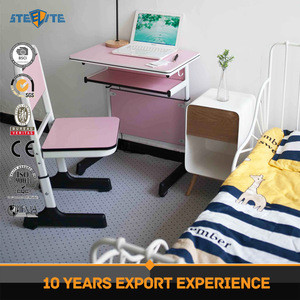 Height adjustable students study desk set writing desk kids table kids school desk and chair