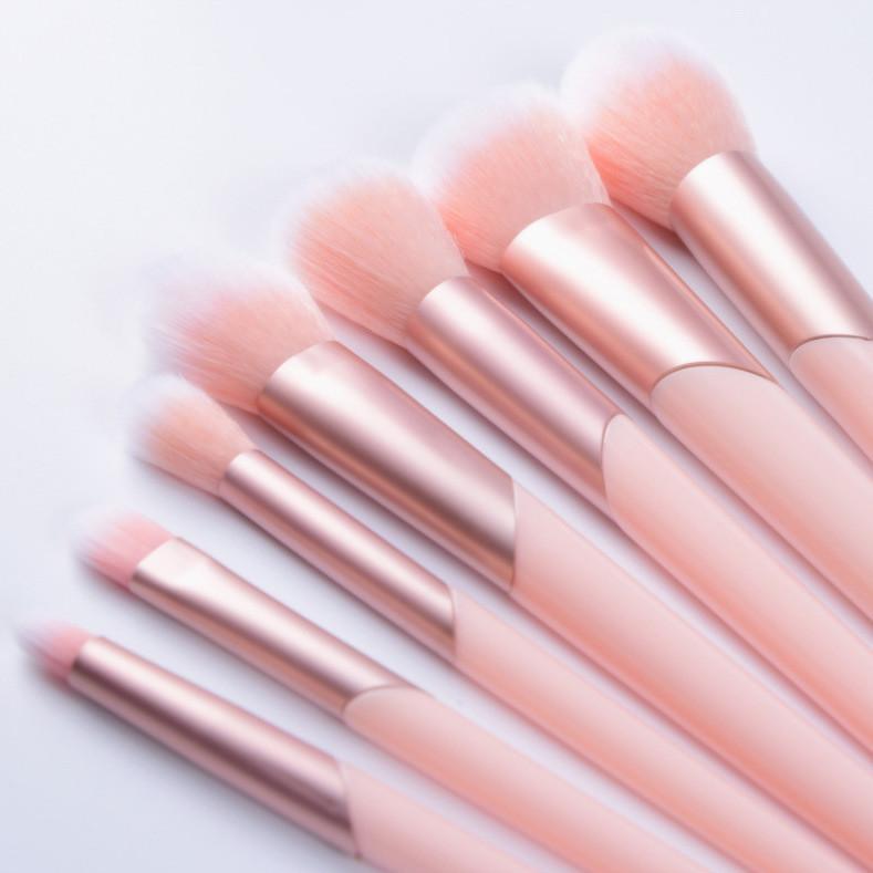 Hot Sale Synthetic Hair 7PCS Cosmeti Makeup Brush Set with Slanted Ferrule