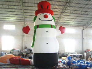 Hot sell cheap inflatable decoration snowman olaf mascot costume model for adult