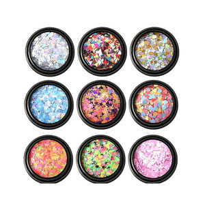 LDD683 Colors Glitter Nail Sequins Acrylic Powder Cosmetic Festival Chunky Body Manicure Craft Glitter for Nail Hair Face