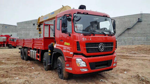 Lorri 8x4 16t manual hydraulic telescopic boom arm 15 16 ton mount dongfeng cargo truck mounted with crane for sale