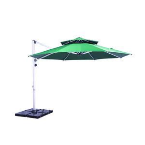 Luxury large size marble base  aluminum outdoor umbrellas parasol