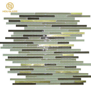 Mixed Color Family and linear glass mosaic factory
