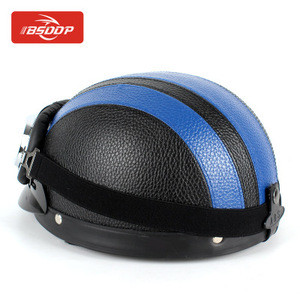 Motorcycle open helmet scooter travel retro helmet+goggles for Suzuki GSXR600 GSXR750 GSXR1000 GSR600 GSR750 DL650 GSF600