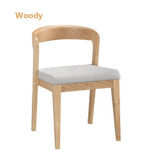 New Design Event Furniture Wood Restaurant Chair Dining Natural Color Or Painted With Cushion