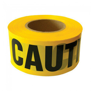 Pe warning tape price barricade safety tape yellow caution tape