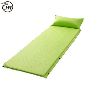 Portable Lightweight Self-Inflating Camp Pad Air Mattress Sleeping Pad with Attached Pillow