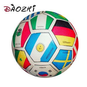 Promotional flag World Cup football rubber soccer ball for sporting team game
