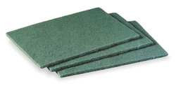 Scouring Pad Green 6In L 9In W PK20