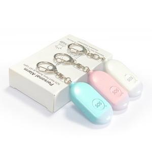 Women Backpack Pendant Panic Button Usb Rechargeable Sos Rape Whistle Personal Keychain Emergency Alarm
