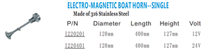 Xiamen Sunshine Marine boat parts and accessories 316 stainless steel single electro-magnetic boat horn
