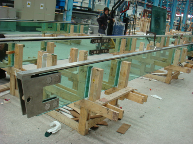 Laminated Glass with SS channel Bonding