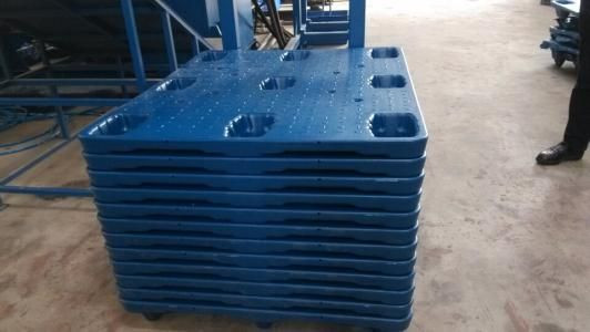 Blow mold Heavy duty nestable plastic pallets in high quality 1200x1000mm