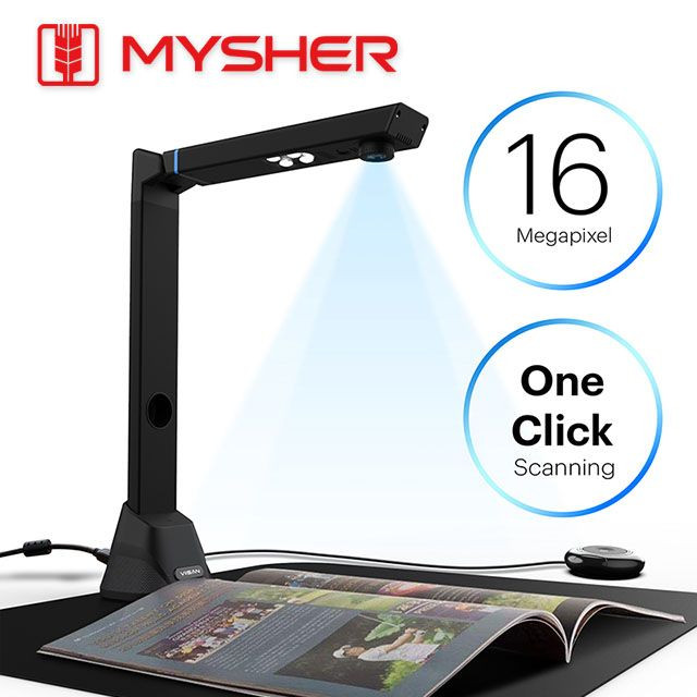 16MP, A3 Size Professional Document & Book Scanner With Curve-Flattening Tech, Powerful OCR, Foldable & Portable Design