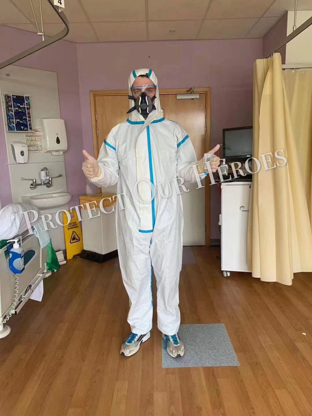Hot sale disposable Isolation Clothing Suit Protective Suits non-woven Full Body Coverall