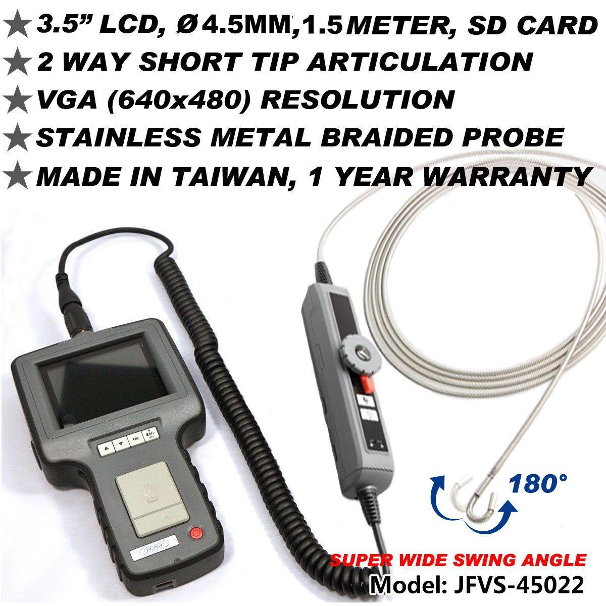 2 Way Articulating Φ4.5MM 1.5M VGA Inspect Borescope Videoscope NDT JFVS-45022