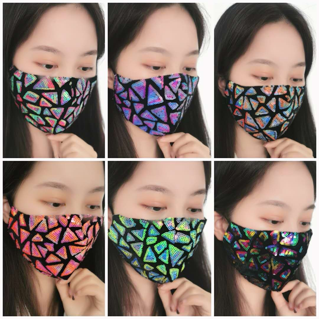 Hot sale Fashionable hight quality party fashion sequin masks