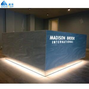 2018 Newest design grey marble 5 star hotel hobby reception desk/counter