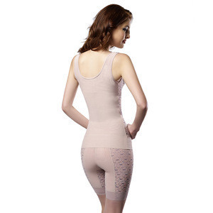 4XL Private Label Ladies Carboxy Ab Vacuum  Seamless Corset Body Shaper
