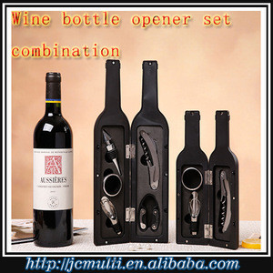 5 pcs wine tool gift set in wine bottle tool set storage
