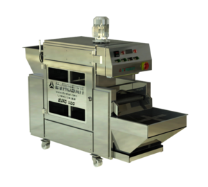 8-20 kg/h 304 Stainless Steel High Quality Continuous Shop Use Homogenous Roasting Electric Heating Nuts Roasting Machine