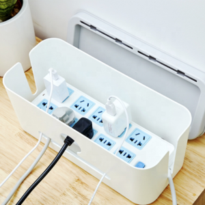 Amazon top seller Japan Style  Kawaii ABS tidy Multi-tap cable storage box