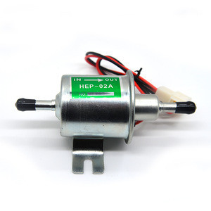 Auto Engine Universal 12V 2.5-4 PSI Gas Diesel Inline Low Pressure Electric Fuel Pump HEP02A HEP-02A