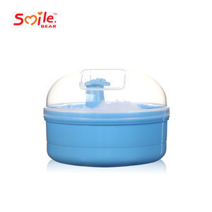 Baby powder container/ Baby Prickly heat powder puff box hot selling