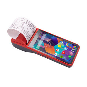 Beeprt  Handheld Android Mobile POS Machine  with built in Printer for  Restaurant Cash Registers