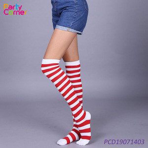 Carnival Halloween Christmas stockings with stripes