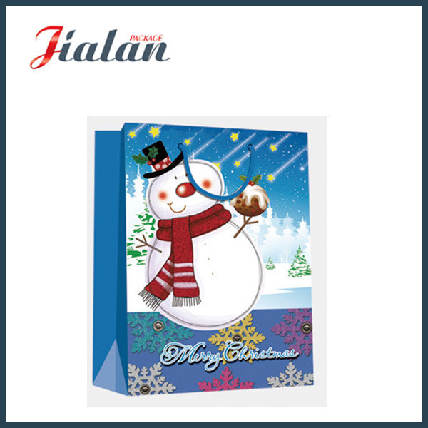 Cartoon Design Christmas Gifts Packing Cheap Shopping Carry Paper Bag