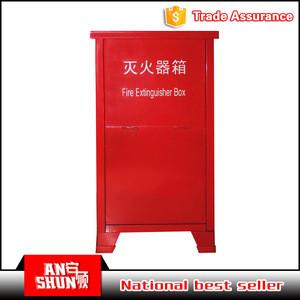 CAS-120 fire extinguisher and fire hose reel box metal double door fire cabinet