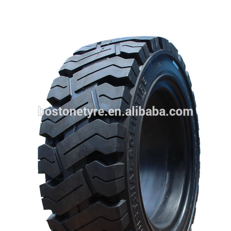 China solid tires manufactures 21X8-9 resilient tyres for forklifts