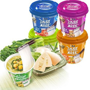 Chinese Food Rice Instant Noodles Self Mini Rice Noodles 40g/Barrel, 12 Barrel/carton
