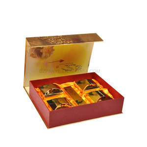 Customize Golden Packaging Portable Corrugated Gift Box for Mooncake