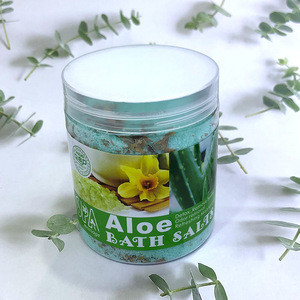 Deep Cleaning Exfoliating Aloe Spa Sea Salt Scrub  Body Bath Salt Whitening Skin Care