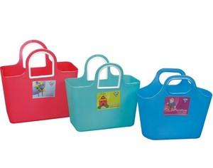 Easy carry shopping plastic basket