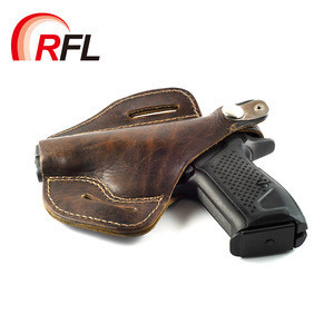 Fashionable design China factory high quality custom leather gun bag