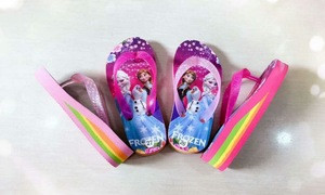 Girls   Purple Flip Flops Rainbow high heels Slipper