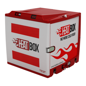HEATBOX - Motorcycle tail box for delivery food With Self-sufficient heating system