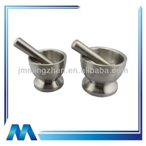 Hot selling stainless steel double wall mortar and pestle