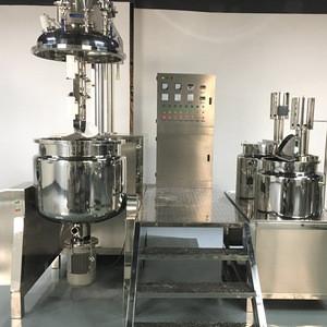 Hotsale PLC control  cosmetic Vacuum Emulsifying machine 200L  usd for multic toothpaste shampoo  liquid and cream