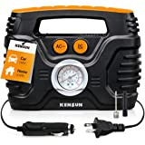 Kensun AC DC Portable Electric Tire Inflator for Car Bike Truck 12v Electric Air Pump 120 PSI Compressor Inflator