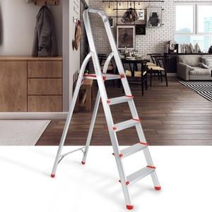 Portable Folding Aluminum 5 Step Ladder with Standing Platform