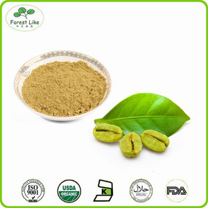 Pure Green Coffee Bean Extract Powder / Anti-aging Ground Coffee