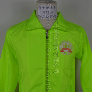 Round neck fluorescent green reflective safety Clothing