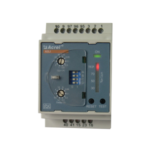 Smart din rail earth leakage fault protection relay residual current relay for electrical circuit protection safety ASJ