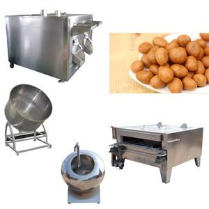 Snacks Coated Peanut Nuts Beans Roasting Coating Making Machine Fishskin Peanuts Production Line