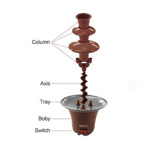 Stainless steel chocolate fountain machine