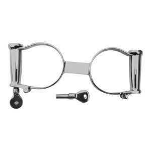 Stainless steel classic Darby style handcuffs